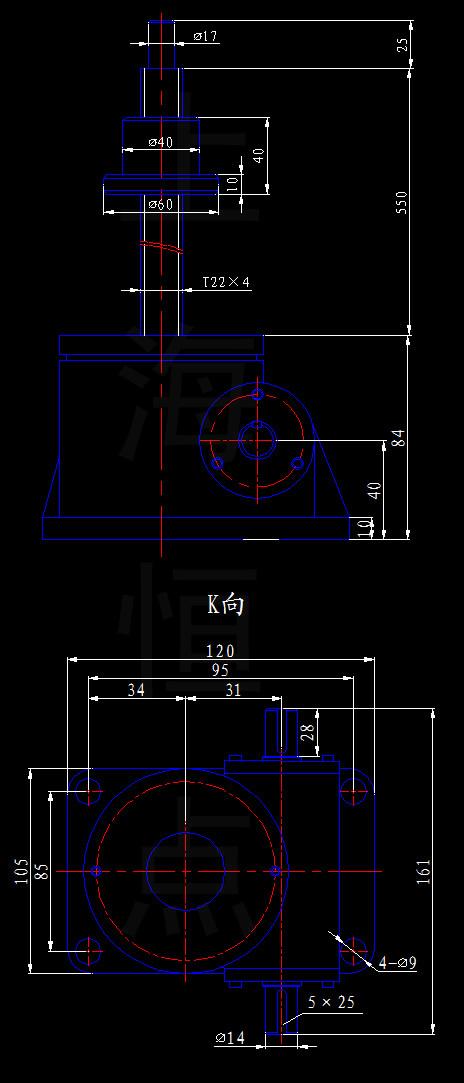限高杆cad设计图