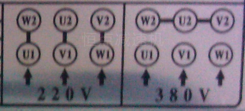 单相电机在380v与22v电压时的接线方式